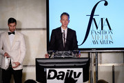 (EXCLUSIVE ACCESS, SPECIAL RATES APPLY) Dazed group's editor-in-cheif Jefferson Hack speaks at The Daily Front Row's 4th Annual Fashion Media Awards at Park Hyatt New York on September 8, 2016 in New York City.