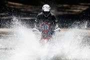 (#92)  Mike Johnson of USA for Ht Honda Rally Raid competes on Day 1 of the Dakar Rally 2014 on January 5, 2014 in Santa Rosa de Calamuchita, Argentina.