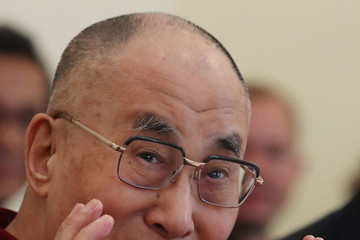 Dalai Lama Democratic Leader Nancy Pelosi  Meets With The Dalai Lama