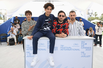 """Dali Benssalah Moncef Farfar """"Mes Freres Et Moi/La Traviata, My Brothers And I"""" Photocall - The 74th Annual Cannes Film Festival"""