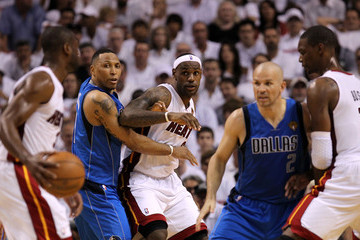 LeBron James Jason Kidd Dallas Mavericks v Miami Heat - Game One