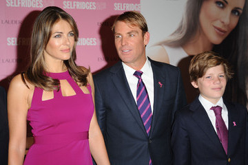 Damian Hurley Elizabeth Hurley Personal Appearance At Selfridges