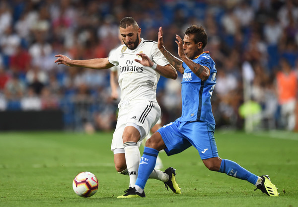Real Madrid Vs Getafe Cf: Damian Suarez Photos Photos