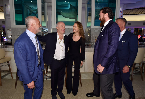 Palms Casino Resort Unveils Property Wide Renovations At From Dust To Gold Preview Party [event,employment,white-collar worker,suit,businessperson,job,business,team,official,damien hirst,lorenzo fertitta,pat lewis,frank fertitta,sophie cannell,from dust to gold preview party,l-r,palms casino resort unveils property wide renovations,red rock resorts,preview party]