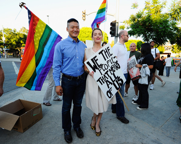 Same-Sex Marriage Advocates Demonstrate Against Stay Banning Gay Marriages