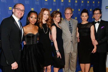 Dan Bucatinsky Katie Lowes Celebs at the Human Rights Campaign Gala