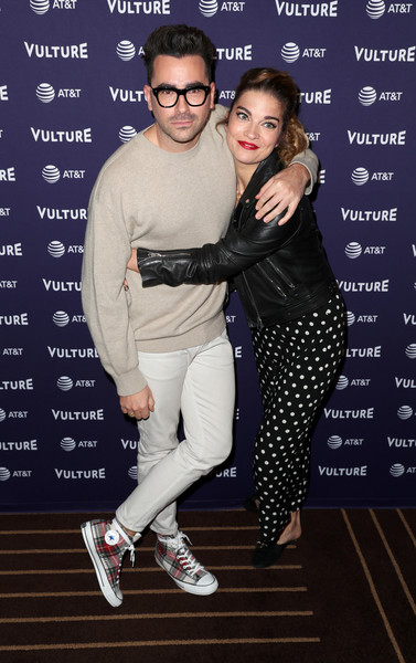 Vulture Festival Presented By AT&T - DAY 1 [eyewear,fashion,footwear,fun,event,performance,vision care,shoe,fashion design,photography,dan levy,annie murphy,hollywood roosevelt hotel,california,at t,l,vulture festival]