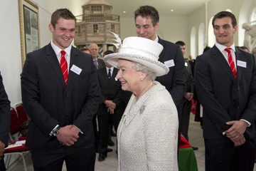 Dan Lydiate Queen Elizabeth II Visits Wales - Day One