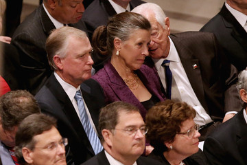 Dan Quayle Memorial Service For Neil Armstrong Held At National Cathedral