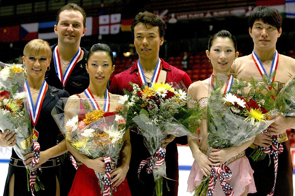 Skate America [event,award,championship,competition event,medal,competition,silver medal,hongbo zhao,xue shen,dan zhang,stanislav morozov,hao zhang,tatiana volosozhar,photographers,skate america,russia,competition]