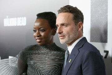 Danai Gurira Andrew Lincoln 'The Walking Dead' Premiere And After Party