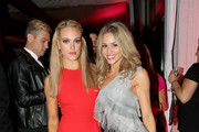 Dancers Peta Murgatroyd (L) and Tyne Stecklein attend Dancing With The Stars Season 17 wrap party at Sofitel Los Angeles on November 26, 2013 in Los Angeles, California.