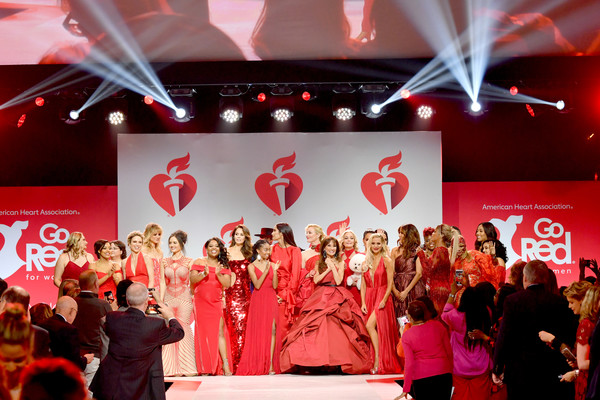 The American Heart Association's Go Red For Women Red Dress Collection 2019 Presented By Macy's - Runway [red,stage,event,performance,fashion,design,fun,stage equipment,crowd,theatre,models,runway,runway,hammerstein ballroom,new york city,american heart associations go red for women red dress collection,macys,the american heart associations go red for women red dress collection]