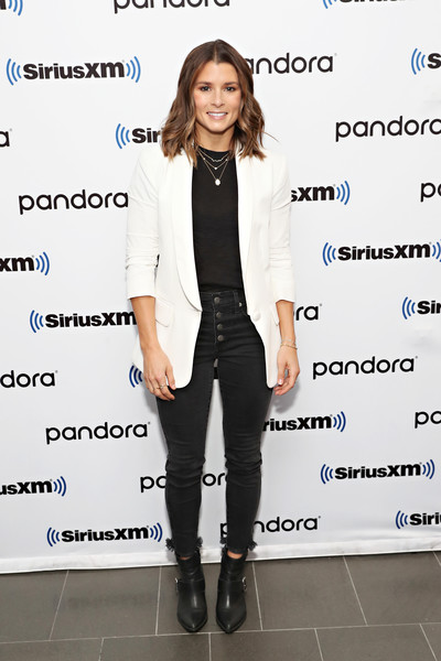 Celebrities Visit SiriusXM - November 7, 2019 [clothing,suit,blazer,outerwear,pantsuit,formal wear,footwear,fashion,jacket,photography,celebrities,danica patrick,coverage,new york city,siriusxm,siriusxm studios]