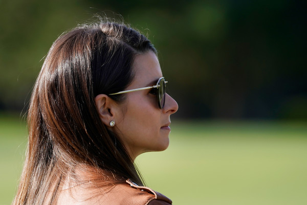 AT&T Pebble Beach Pro-Am - Round One [eyewear,hair,glasses,sunglasses,hairstyle,beauty,nose,lady,grass,brown hair,pebble beach,california,monterey peninsula country club shore course,at t pebble beach pro-am,round,round,danica patrick]