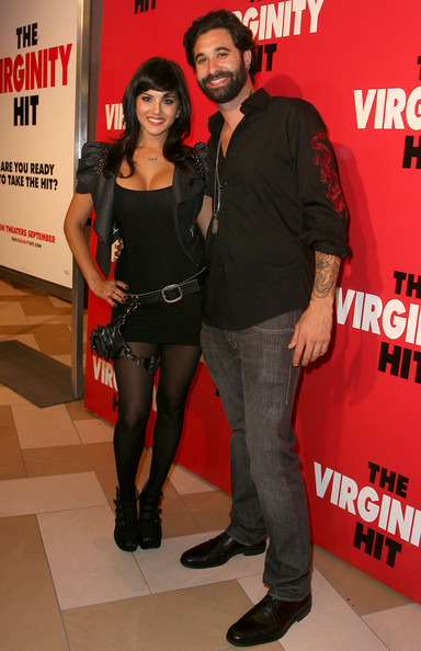 "Daniel Weber Actress Sunny Leone and Daniel Weber arrive at the KROQ Screening Of Columbia Pictures' ""The Virginity Hit"" on September 7, 2010 in Los Angeles, California."