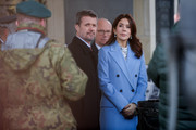 Crown Prince Frederik of Denmark and Crown Princess Mary of Denmark pay their respects at the Tomb of Unknown Soldiers on November 25, 2019 in Warsaw, Poland. The Danish Crown Prince and his wife are on an official visit to Poland on the occasion of the centenary of the resumption of diplomatic relations between Denmark and Poland.