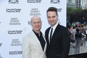 """Richie Jackson and  Jordan Roth attend """"Danny Elfman's Music from the Films of Tim Burton"""" Opening Night at Josie Robertson Plaza at Lincoln Center on July 6, 2015 in New York City."""