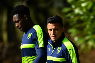 Danny Welbeck Arsenal Training and Press Conference