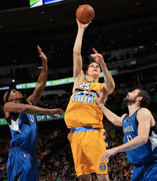 Nuggets Zimbo: Dante Cunningham And Timofey Mozgov Photos Photos