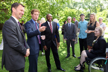 Darren Campbell Prince Harry Hosts Reception for School Games Athletes