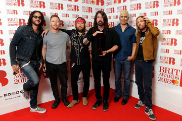 Dave Grohl Rami Jaffee The BRIT Awards 2018 - Winners Room