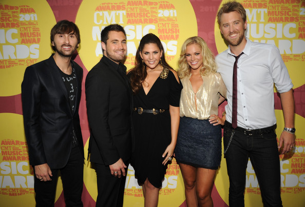2011 CMT Music Awards - Red Carpet [red carpet,event,yellow,youth,premiere,party,dave haywood,hillary scott,cassie mcconnell,chris tyrrell,charles kelley,l-r,bridgestone arena,nashville,cmt music awards]
