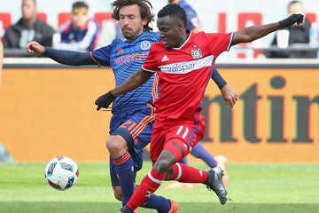 David Accam New York City FC v Chicago Fire