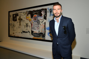 David Beckham Opening Of The New Exhibitions Jean-Michel Basquiat And Egon Schiele At The Fondation Louis Vuitton