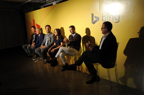 NYC Bing Redesign Panel  [event,yellow,design,fun,room,architecture,photography,performance,team,conversation,david bromstad,jonathan adler,ingrid abramovitch,michael kroll,cesar galindo,scott erickson,l-r,new york city,nyc bing redesign panel,redesign panel]