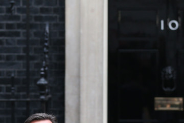 David Cameron Downing Street On The Last Day Of Parliament Before The General Election