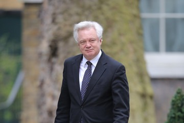 David Davis Government Ministers Attend Their Weekly Cabinet Meeting
