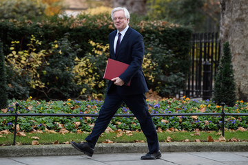 David Davis Government Ministers Attend The Weekly Cabinet Meeting