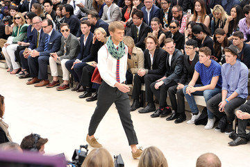 David Fisher Behind the Scenes at the Burberry Runway Show