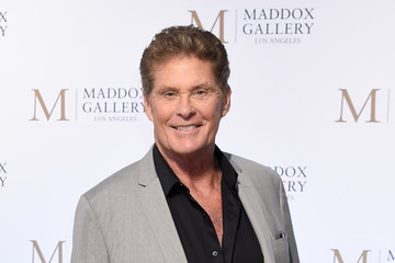 David Hasselhoff The VIP Opening Of Maddox Gallery With Inaugural Exhibition 'Best Of British'