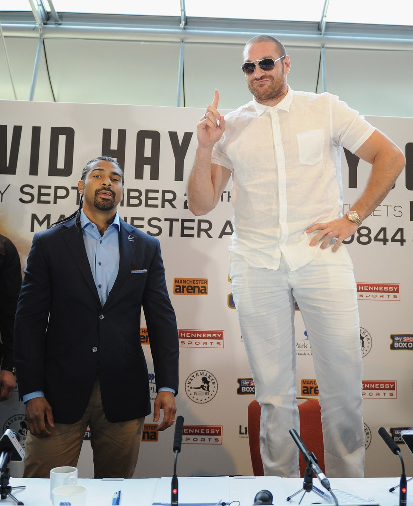 David Haye And Tyson Fury Press
