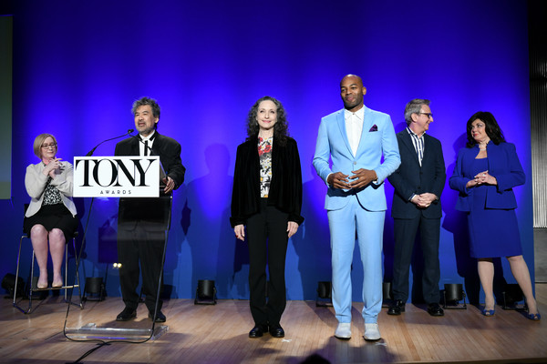 Bebe Neuwirth And Brandon Victor Dixon Host The 73rd Annual Tony Awards Nominations Announcement [heather hitchens,bebe neuwirth,brandon victor dixon host,thomas schumacher,david henry hwang,president,event,performance,youth,stage,performing arts,talent show,heater,competition,team,award ceremony,announcement,annual tony awards,american theatre wing,broadway league]
