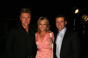 (L-R) TV personalities Richard Wilkins, Georgie Gardiner and Karl Stefanovic attend the morning tea reception ahead of the David Jones Autumn/Winter 2010 Fashion Launch at the Hordern Pavilion on February 10, 2010 in Sydney, Australia.