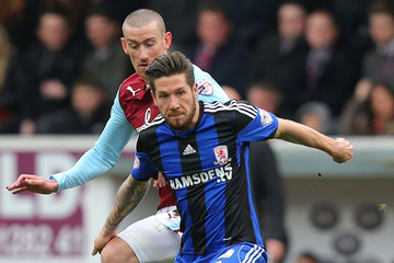 David Jones Burnley v Middlesbrough - Sky Bet Championship