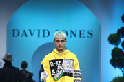Anwar Hadid showcases designs by Diesel during the David Jones Spring Summer 18 Collections Launch at Fox Studios on August 8, 2018 in Sydney, Australia.