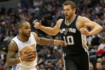 David Lee San Antonio Spurs v Denver Nuggets