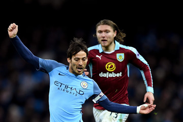 David Silva Manchester City v Burnley - Premier League