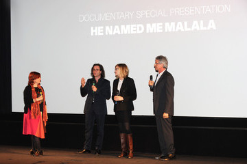 Davis Guggenheim Walter Parkes 'He Named Me Malala' - Red Carpet - BFI London Film Festival