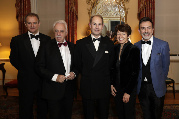 National Youth Theatre Baroque And Roll Fundraising Gala 2020 [suit,formal wear,event,tuxedo,white-collar worker,businessperson,management,hugh bonneville,dawn airey,earl of wessex,david pearl,prince edward,paul roseby obe,l-r,spencer house,england,national youth theatre baroque and roll fundraising gala,dawn airey,paul roseby,hugh bonneville,getty images,stock photography,national youth theatre,photography,photograph,image]