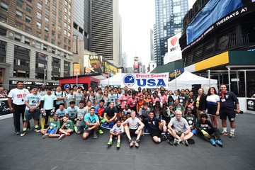 Dax McCarty Street Soccer USA Cup in Times Square, New York City
