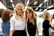 (L-R) Guest and Princess Beatrice of York attends the Markus Lupfer presentation during London Fashion Week Spring Summer 2015 at  on September 13, 2014 in London, England.