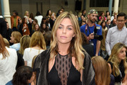 Abbey Clancy attends the Julien Macdonald show during London Fashion Week Spring Summer 2015 at Somerset House on September 13, 2014 in London, England.