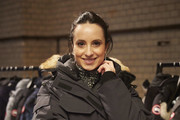 Stephanie Stumph is seen with a Canada Goose Jacket at the panel talk with BARE EXISTENCE at ewerk on February 21, 2020 in Berlin, Germany.