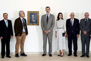 King Felipe VI of Spain and Queen Letizia of Spain attend 'Autorretrato de Goya' exhibition at the Bellas Artes museum on November 14, 2019 in La Havana, Cuba. King Felipe VI of Spain and Queen Letizia of Spain are visiting Cuba for the first time during three days.