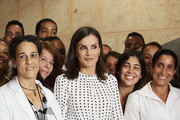 Queen Letizia of Spain visits the Molecular Immunology Center on November 14, 2019 in La Havana, Cuba. King Felipe VI of Spain and Queen Letizia of Spain are visiting Cuba for the first time during three days.